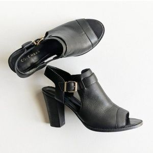 Cole Haan Open Toe Sling Booties sz 9
